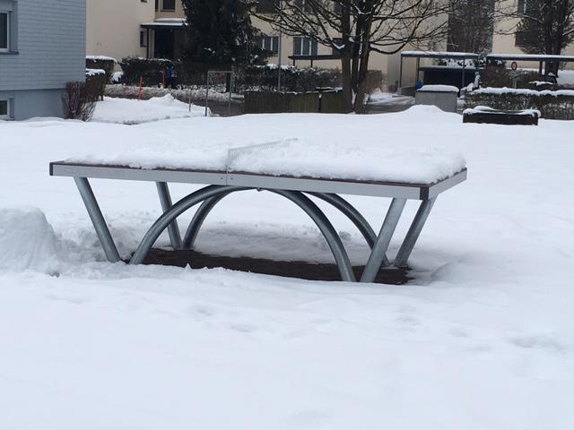 Park Tischtennistisch: Trozt jedem Wetter