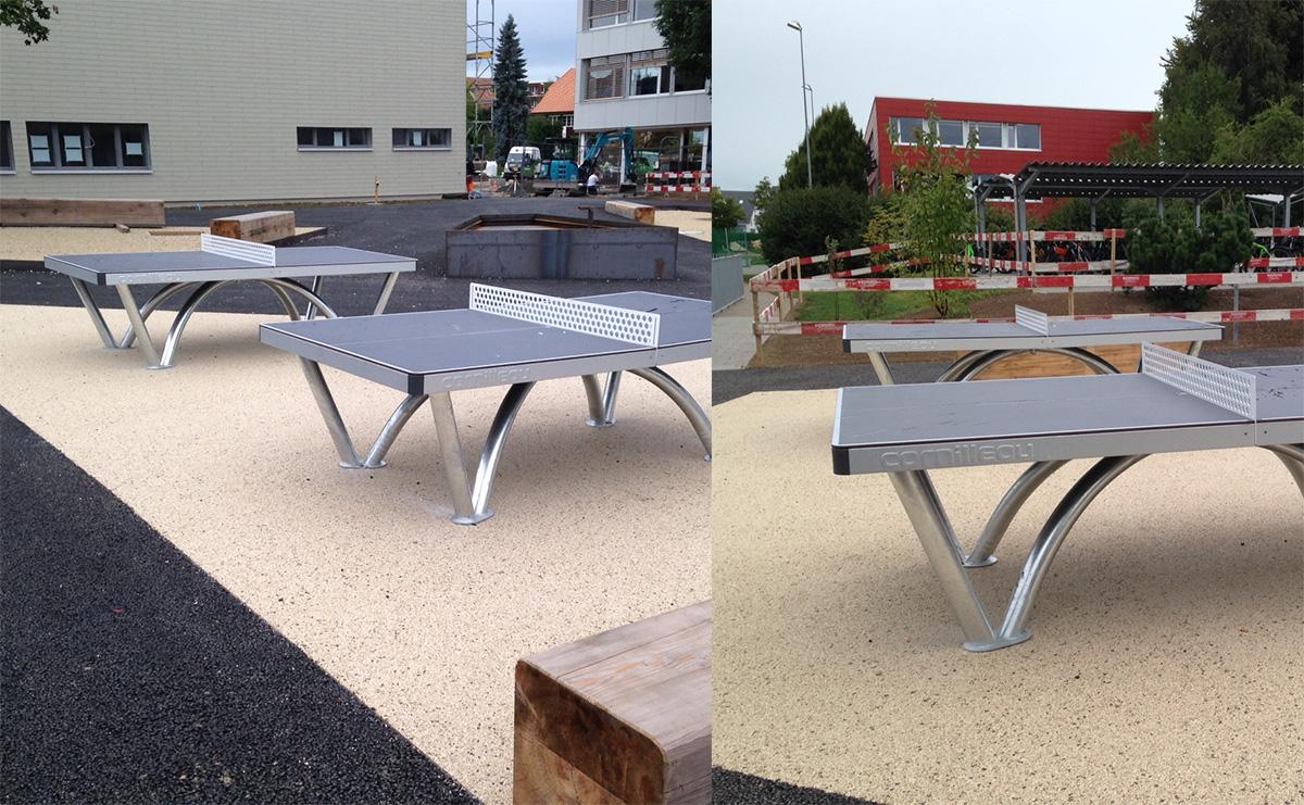 Tischtennisspielen beim Oberstufenzentrum Hindelbank