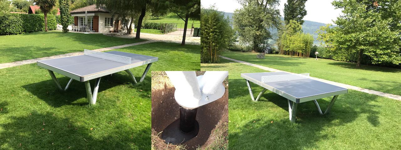Tischtennistisch auf privatem Grundstück am Pfaffenmattweg in 2572 Sutz